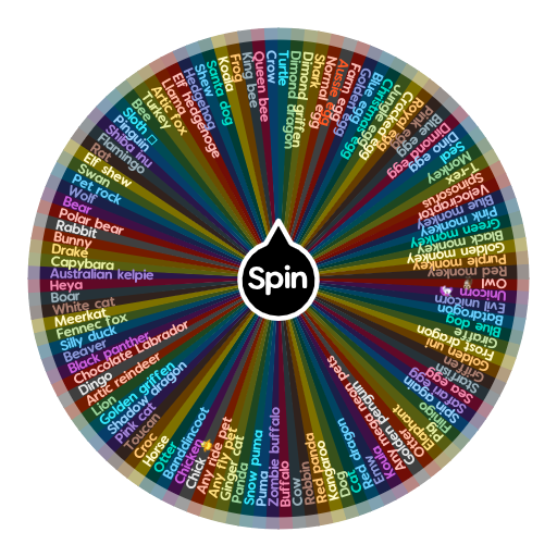 Adopt me pets and eggs   Spin The Wheel App