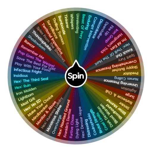 Dead By Daylight Killer Perks Spin The Wheel App