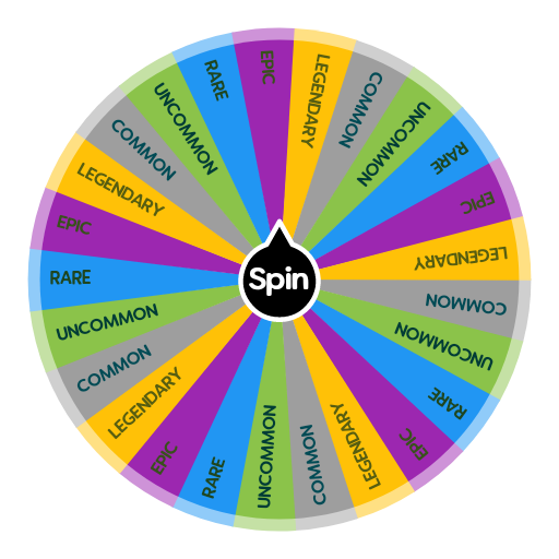 FORTNITE RARITY CHALLENGE | Spin The Wheel App