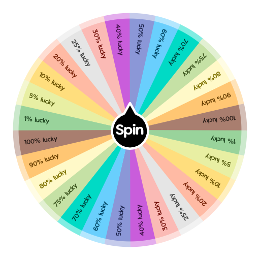 Lucky Percentage Spin The Wheel App