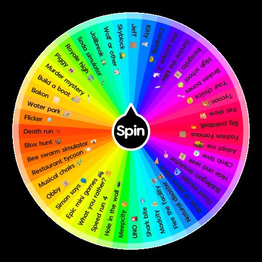 New Rainbow Roblox Spin The Wheel App