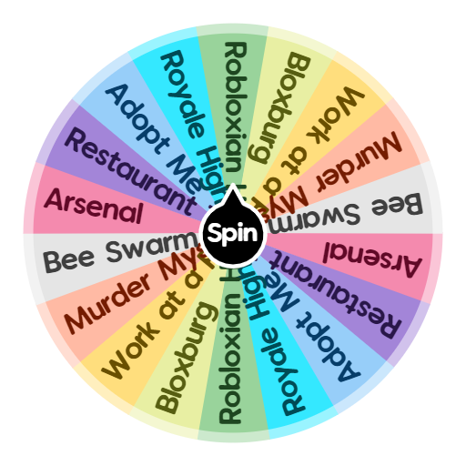 Roblox Games To Play Spin The Wheel App