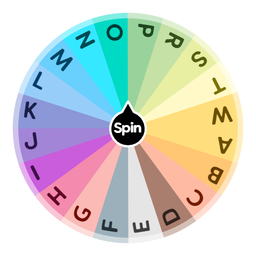 Scattergories Letters Spin The Wheel App