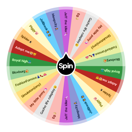 Pony Jeff Roblox Which Roblox Game Are You Spin The Wheel App